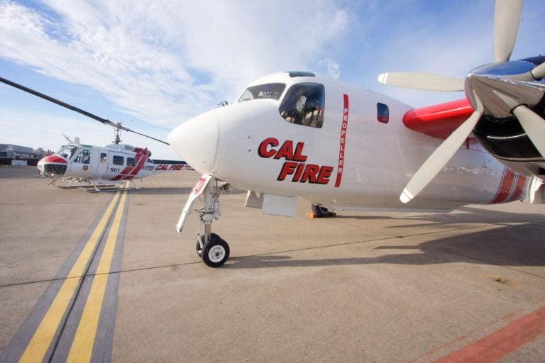 CAL FIRE Tanker and Copter